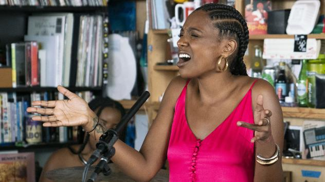Mereba performs during a Tiny Desk concert, on Sept. 17, 2019.