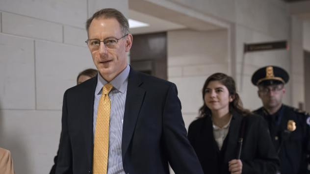 Mark Sandy, a career employee in the White House Office of Management and Budget, testified in the House impeachment inquiry on Nov. 16.