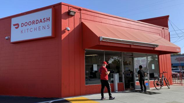 "DoorDash's delivery restaurant in Redwood City, near San Francisco, is among an increasing number of ""ghost kitchens"" and menus that exist solely in smartphone apps."