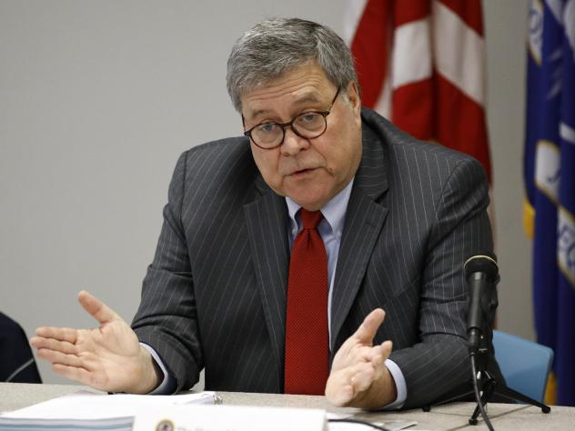 Attorney General William Barr opposes the release of secret grand jury material from then-special counsel Robert Mueller's investigation into Russian interference in the 2016 election.