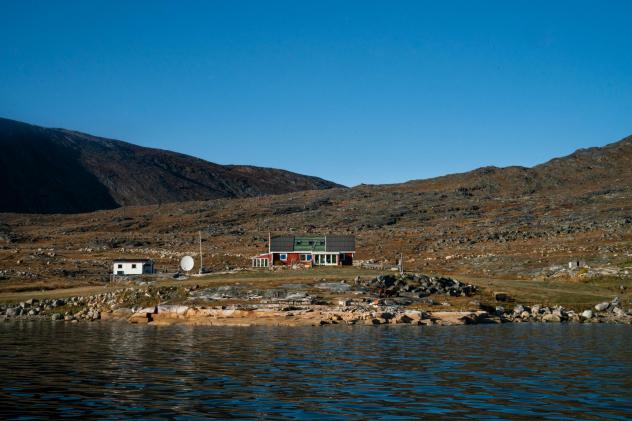 The Nielsens' sheep farm sits on the edge of a fjord in southern Greenland. The family has owned and run the farm since 1972.
