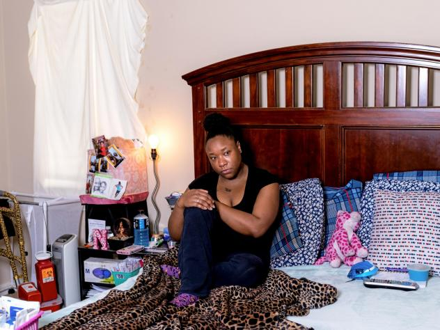 """from local story: """"Sickle cell pain has a mind of its own,"""" said Anesha Barnes, who's had the disease since she was a baby. She says the longer she stays in a pain crisis, the harder it is to break out of it."""