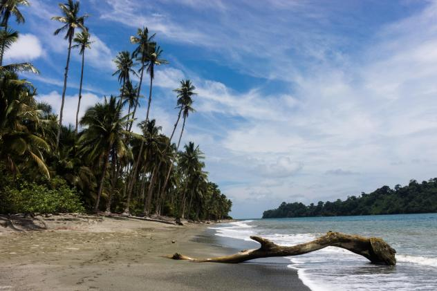 A deserted beach in Gorgona National Park, an island 21 miles off Colombia's Pacific coast.