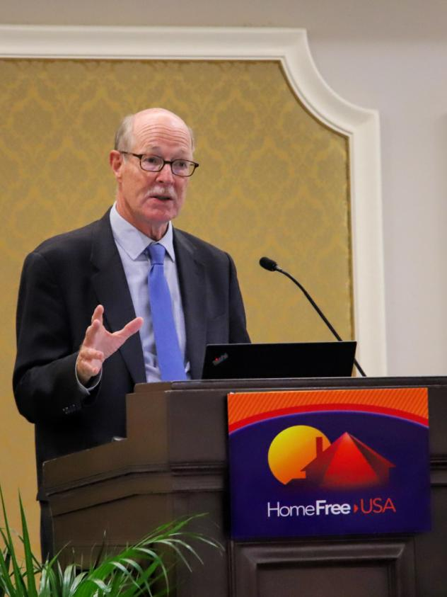 Mike Calhoun talks about how student loans are forcing younger Americans to delay homeownership at a housing conference in September.