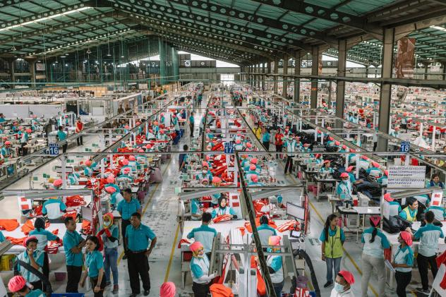 Garment workers in Indonesia are eligible for generous severance if they're laid off — although that law could be changing.
