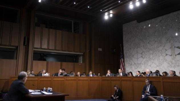 Michael Horowitz, inspector general for the Justice Department, testified before the Senate Judiciary Committee Wednesday.