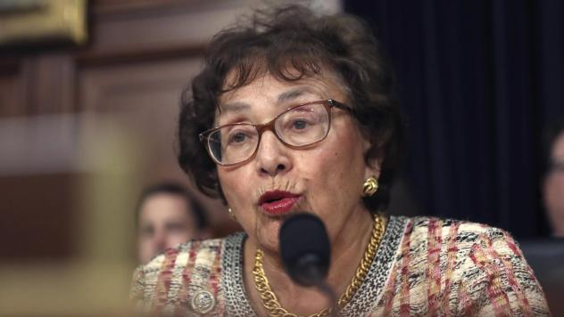 """Congressional negotiators have reached tentative agreement on a $1.3 trillion spending package to fund the government through the end of September 2020. """"I think we can be very proud of the good work that this Congress is doing,"""" Rep. Nita Lowey, seen he"""