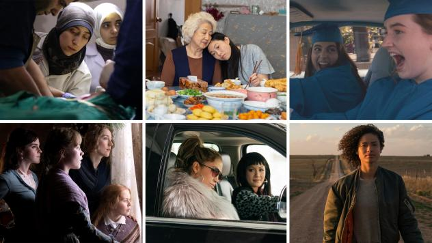 <em>The Cave, The Farewell, Booksmart, Little Women, Hustlers </em>and<em> Fast Color</em> (from left, starting in top row) all made NPR's favorite-movie list this year.
