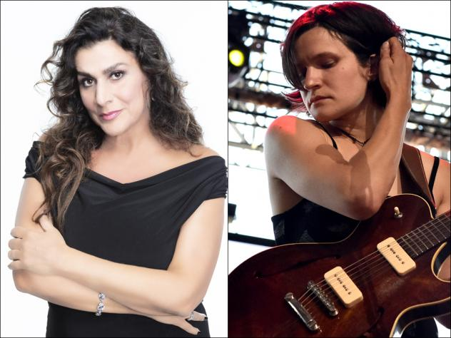 Cecilia Bartoli (left) and Adrianne Lenker of the band Big Thief (right)