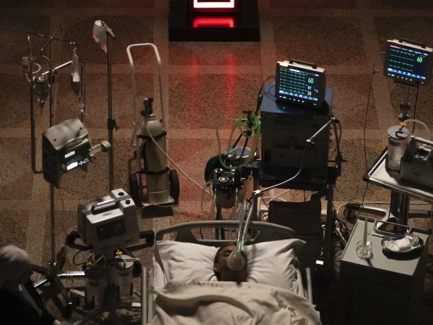Coma Unto Me: Pope Pius XIII (Jude Law) lies between life and death in the world's most stylish hospital in HBO's <em>The New Pope</em>.