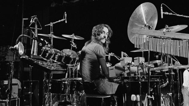 Neil Peart, of Rush, photographed in Cleveland on Dec. 17, 1977. The Rock & Roll Hall of Fame inductee died Jan. 7, aged 67.