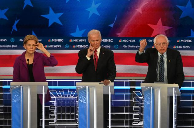 As Democratic presidential candidates prepare to debate again on Tuesday night, health care proposals are likely to come up, as they did during the November 20 debate. Presidential candidate Sen. Elizabeth Warren, D-Mass., (left) Former vice president Jo