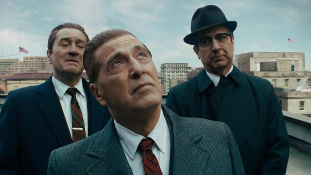Robert De Niro (from left) stars with Al Pacino and Ray Romano as a mob hit man in Martin Scorsese's <em>The Irishman.</em>
