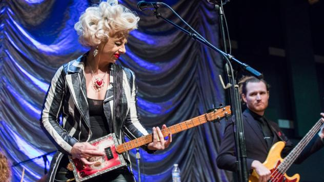 Samantha Fish performing live for World Cafe