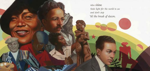 """""""It's thrilling to see Kwame Alexander and Kadir Nelson's exceptional work recognized by the Caldecott, Newbery, and Coretta Scott King Book Award committees,"""" Cat Onder, senior vice president and publisher of HMH Books for Young Readers, tells NPR of <e"""
