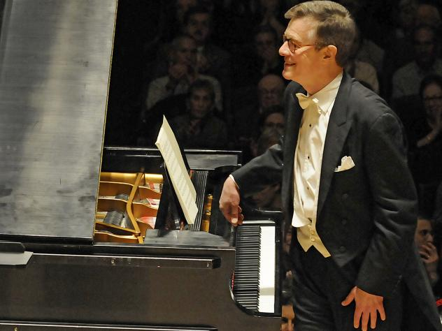Pianist Peter Serkin, in concert with the Boston Symphony Orchestra in 2012.