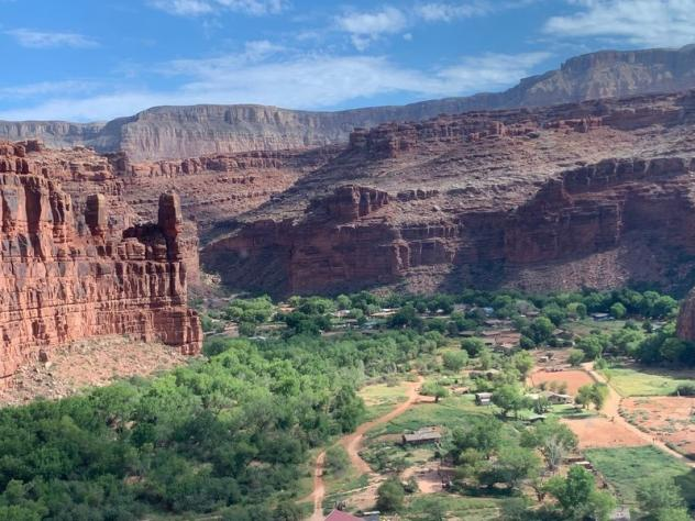 About 450 Havasupai live in the remote Supai Village at the bottom of the Grand Canyon. In 2019, the tribe got broadband access for the first time.