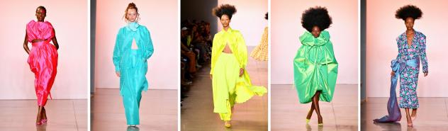 Models walk the runway for Christopher John Rogers during New York Fashion Week in September 2019.