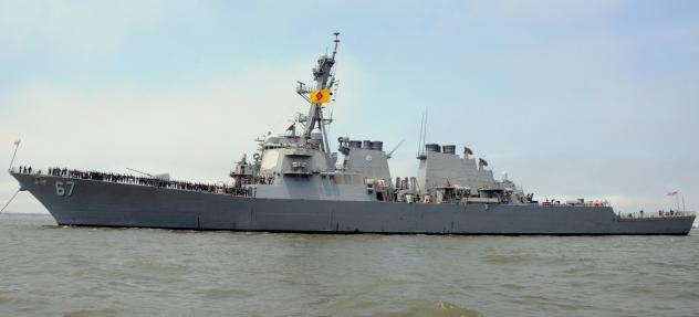 Sudan says it is settling a lawsuit filed by victims and families of people killed aboard the USS Cole in a 2000 terrorist attack. The destroyer is seen here in Norfolk, Va., in 2016.