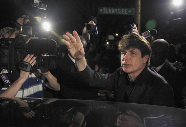 Former Illinois Gov. Rod Blagojevich departs his Chicago home in 2012. On Tuesday, Trump commuted the 14-year sentence of Blagojevich, who has been serving a prison term after being convicted on corruption charges.