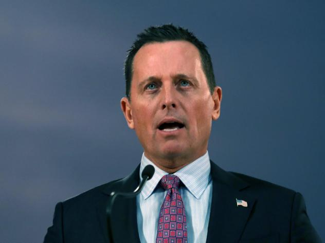 U.S. Ambassador to Germany Richard Grenell speaks during a news conference after a meeting with Serbian President Aleksandar Vucic in Belgrade, Serbia, last month.