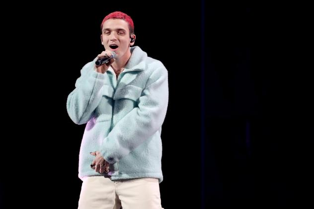 Lauv performs onstage at Madison Square Garden on Dec. 13, 2019 in New York City. His new album <em>~how i'm feeling~ </em>tackles feelings of depression and anxiety.