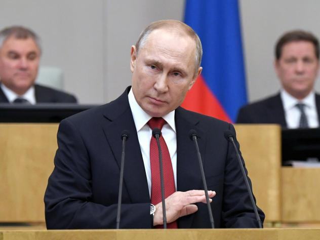 Russian President Vladimir Putin told lawmakers on Tuesday that he supports a proposed constitutional amendment that would allow him to seek two more terms and remain in power.