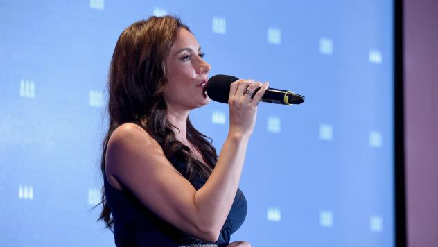 Laura Benanti performs in New York City in 2016. She recently asked high school students to send her videos of their musical theater performances after many of them were canceled.