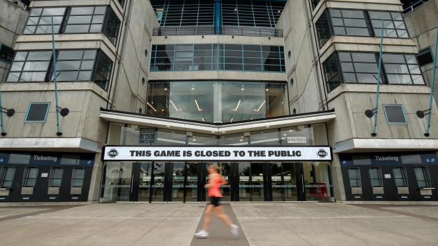 The Melbourne Cricket Ground announces a match closed to fans Thursday in the Australian coastal hub. The country, along with neighboring New Zealand, says it is closing its borders in an effort to stem the spread of the coronavirus.