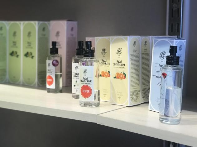 A display of Turkey's popular Rebul colognes in Istanbul. Cologne is in high demand because its 80% alcohol content helps it double as a disinfectant in the Turkish tradition of splashing hands when arriving at or leaving someone's home, a restaurant or