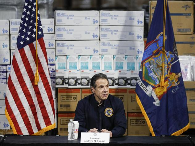"""""""We haven't flattened the curve, and the curve is actually increasing,"""" New York Gov. Andrew Cuomo said of new coronavirus cases Tuesday. Cuomo said his state now has more than 25,000 cases, as he gave an update on the COVID-19 outbreak at a news confere"""