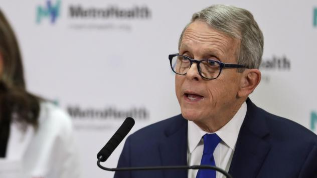 Ohio Governor Mike DeWine is seen in February in Cleveland. He told NPR the state is going to need help from the federal government to respond to the number of people out of work.