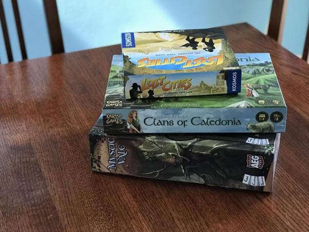 You can't play games like <em>Lost Cities</em> and <em>Mystic Vale</em> with your friends in person right now, but you can still play them online.