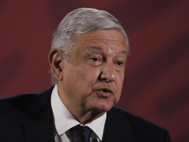 Mexican President Andrés Manuel López Obrador at a news conference at the presidential palace in Mexico City, on March 24.