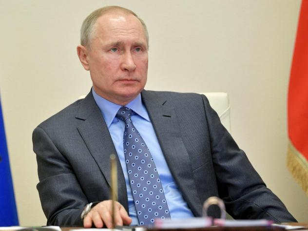 Russian President Vladimir Putin chairs a cabinet meeting about the coronavirus via videoconference at the Novo-Ogaryovo residence outside Moscow. Putin said more than 20,000 Russians are waiting to come back home amid the pandemic.