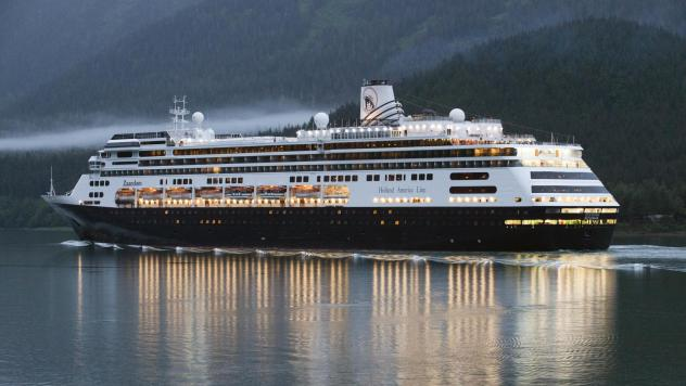 The Carnival cruise ship Zaandam sailing near Juneau, Alaska (file photo).