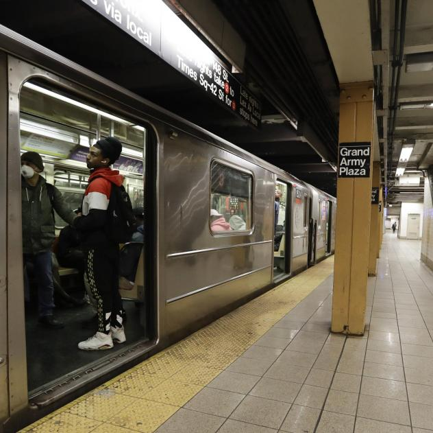 The subway platform at Grand Army Plaza station on Tuesday in the Brooklyn borough of New York.