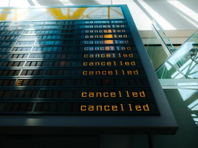 When airlines cancel flights and offer no other options to get to your destination within a reasonable amount of time, they are legally obligated to offer a refund.