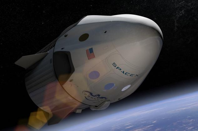 An arist's depiction of SpaceX's Crew Dragon, which is set to take NASA astronauts to the International Space Station May 27.