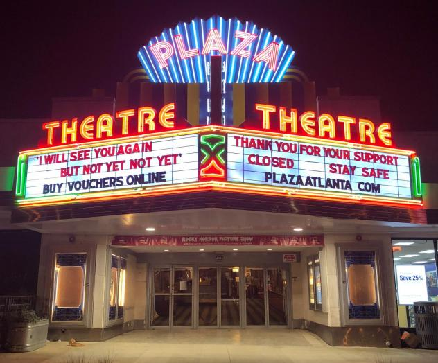 """In Georgia, Gov. Brian Kemp has authorized the opening of theaters, but Chris Escobar, owner of the <a href=""""https://plazaatlanta.com/"""">Plaza Theatre</a> in Atlanta, won't be unlocking the doors quite yet. """"I'm not forcing my employees to choose between"""
