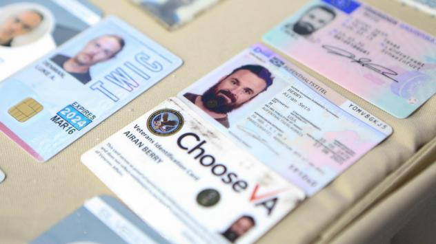 This photograph released by the Venezuelan government purports to show the ID cards confiscated from Airan Berry and Luke Denman in Caracas. The former U.S. service members are now in detention after Venezuelan security forces stifled an ill-fated raid e
