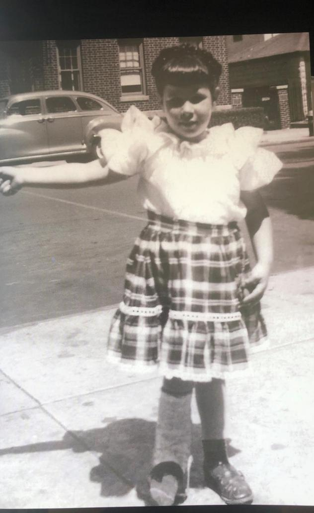 Ina Pinkney in 1948 after undergoing her first corrective surgery.