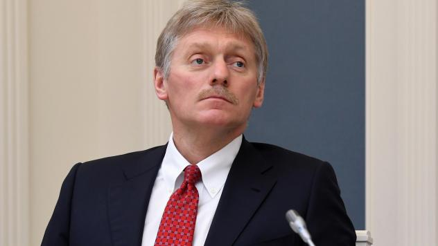 Kremlin spokesman Dmitry Peskov says he is currently hospitalized with COVID-19 — a revelation that came as Russia hopes to emerge from a shutdown despite a spike in new cases. Peskov is seen here during a video conference with Russian President Vladim