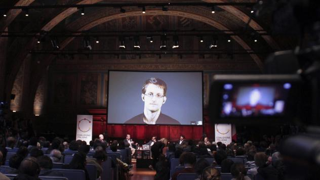 Journalist Barton Gellman's new book, <em>Dark Mirror,</em> focuses on his complicated working relationship with Edward Snowden, the former National Security Agency contractor who leaked the agency's secret surveillance programs. Here, Snowden, who has l