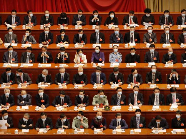 Delegates, shown here at the opening session of the Chinese People's Political Consultative Conference on Thursday in Beijing, are expected to discuss legislation regarding Hong Kong this week.