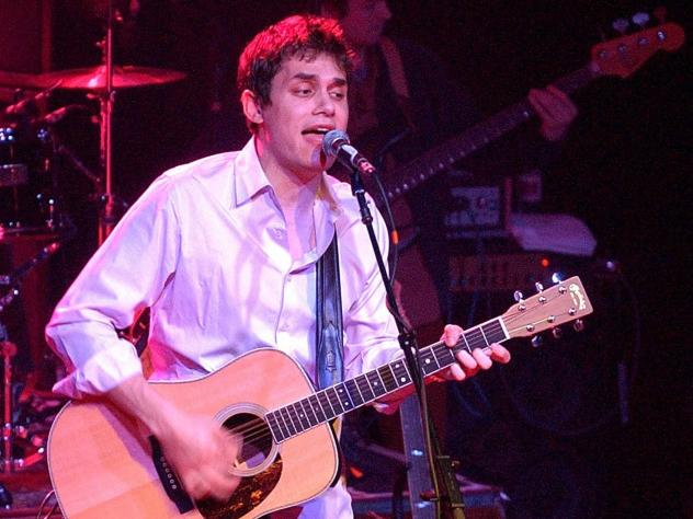 John Mayer performs at Irving Plaza in February 2002 in support of his debut full-length studio album, <em>Room for Squares</em>.