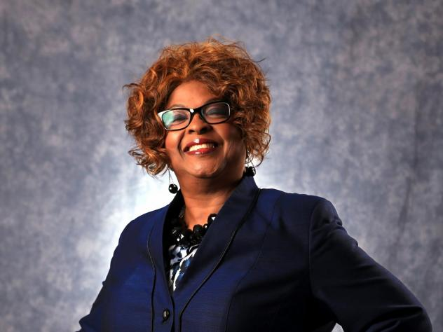 Ella Jones, photographed in March of 2015, when she was a candidate for Ferguson's city council, became the Missouri city's first African American and first woman elected mayor of Ferguson.