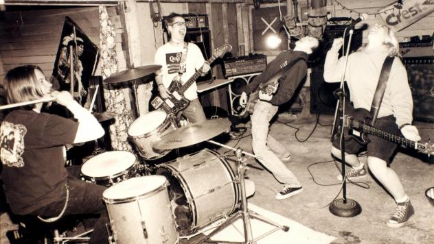 """Team Dresch's song """"Fagetarian and Dyke"""" is featured in our playlist of queer punk."""