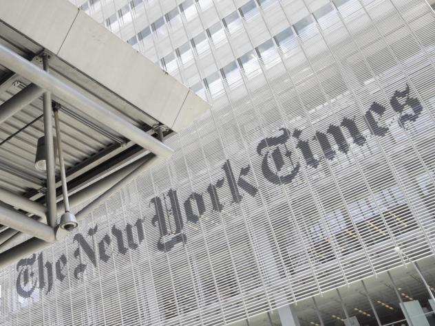 The New York Times building in New York. <em>The New York Times</em> and <em>The Washington Post</em> both outlined new measures aimed at improving diversity in their newsrooms and coverage.