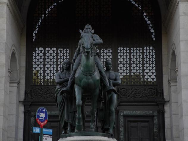 The Equestrian Statue of Theodore Roosevelt in front of the American Museum of Natural History in New York City will be removed at the museum's request.